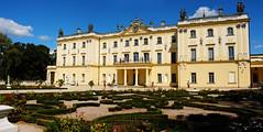Branicki Palace (RafalZych) Tags: pałac branickich palace branicki podlasie bialystok białystok polska poland architecture yellow building garden sky clouds