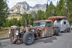 Old Rat Rod (Brad Prudhon) Tags: rat rod custom old rusty car truck trailer rv camper hat