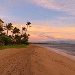 Golden hour Kaanapali beach Maui Hawaii thumbnail