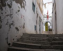 Ruelle du souk. (Lucie Kratz) Tags: backstreet passage orientaldoor greendoor tunisianflag flag souk ruelle porteoriental porteverte drapeautunisien drapeau tunisia tunisie tunis