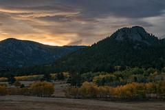 Estes Valley Sunrise (RkyMtnGrl) Tags: landscape nature scenery vista valley mountains trees aspens fall autumn clouds sunrise morning estesvalley colorado 2018 nikon 28300mm