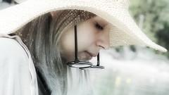 Weariness (endresárvári) Tags: croatia hungarian hungariangirl girl teen teengirl glass hat strawhat weariness cute cutegirl teenager profile desaturation