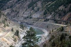 Thompson Canyon - BC (Carneddau) Tags: britishcolumbia canada highway1 rockymountaineer thompsoncanyon thompsonriver transcanadahighway gorge railwayx2 lytton ca