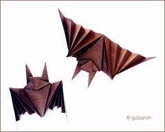 origami bat (polelena24) Tags: origami halloween bat onesheet square