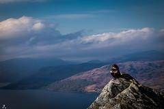 Savouring the View.... (Rotundus III) Tags: trossachs katrine loch lochkatrine glasgowwatersupply autumn highlands scotland scottishhighlands scottishscenery sunny water nature sky lake girl