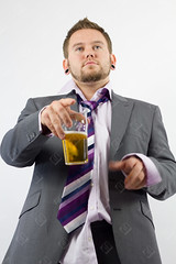 Drunken Office Talk (the UMF) Tags: beer candid indoors isolatedonwhite vertical alcohol alcoholic business businessman caucasian color concept drink drunk drunken gesture isolated lager male men messy officeparty officeworker oneperson people photograph pint realpeople scruffy shirt studioshot suit tie white youngmen