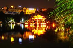 Hanoi by night. Ngoc Son Temple (Andrey Sulitskiy) Tags: hanoi vietnam hoankiem