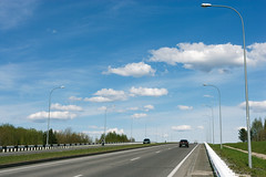 Road from Kemerovo to Lesnaya polyana (man_from_siberia) Tags: road roadside sky clouds lampposts landscape siberia spring may