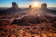 Mittens Buttes Sunrise! Monument Valley Epic Fine Art Landscape Photography! Elliot McGucken Utah Landscape & Nature Fine Art Photos!  Sony A7R II & Sony Carl Zeiss Wide Angle Lens Vario-Tessar T* FE 16-35mm f/4 ZA OSS Lens SEL1635Z ! John Ford View! (45SURF Hero's Odyssey Mythology Landscapes & Godde) Tags: monument valley epic fine art landscape photography elliot mcgucken utah nature photos sony a7r ii carl zeiss wide angle lens variotessar t fe 1635mm f4 za oss sel1635z