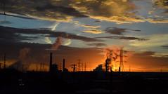 Denver, CO   2018.10.23   Colorado Flatlands Sunrise (Kaemattson) Tags: milehighcity sunrise cityscape landscape skyline orange flickrfriday industrian clouds cloudscapes orangeandblue denver co colorado