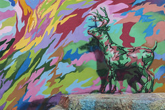 Psychedelic Deer (finding_fl) Tags: canon canon70d 70d 2018 florida miamiflorida miami psychodelicart streetart southfloridaphotography southflorida urbanart nature colorful wynwoodwalls wynwooddistrict forcedperspective deer artexhibit canonef24105mmf4lisusm canonphotography stag rock modernart psychedelic painting surreal hss sliderssunday