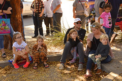 Watching from the curb (radargeek) Tags: okc oklahomacity oklahoma plazadistrict dayofthedead 2018 october velvetmonkey magictree kid child children kids tiger family