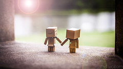 Love (#Weybridge Photographer) Tags: adobe lightroom canon eos dslr slr mk ii mkii danbo danboard kiyohiko azuma manga cardboard box amazon robot character figure love couple holding hands lens flare