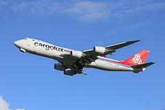 Cargolux B747 (Dougie Edmond) Tags: prestwick scotland unitedkingdom gb plane airplane craft port egpk pik