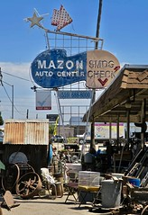 Mazon Auto Center, Tulare, CA (Robby Virus) Tags: tulare california ca sign signage neon mazon joe auto center star arrow smog check