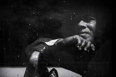 watching through the window (charlesgyoung) Tags: olddelhi india delhi rajasthan streetphotography d500 charlesyoung karineaignerphotographyexpedition nikon nikonphotography nikondx blackandwhite