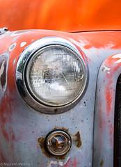 Vintage GMC Headlight (Maureen Medina) Tags: maureenmedina artizenimages vintage truck gmc orange rust headlight old