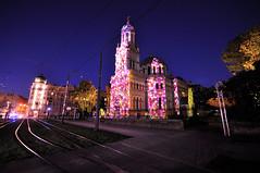 colorful night (rafasmm) Tags: łódź lodz poland polska europe light move festival lightmovefestival 2018 colorfully night nightonearth outdoor mapping church nikon d90 sigma 1020 ex tripod