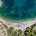 Luftbild Nikolaos Strand Hydra, Griechenland