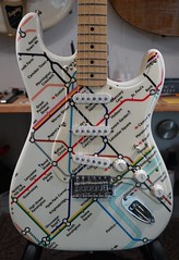 This is fun....the London Tube Map on a Strat! (David Neely) Tags: guitars strat fender