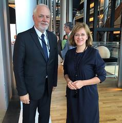 Jan Olbrycht MEP and Ms Zanda Kalniņa-Lukaševica, Parliamentary Secretary of the Ministry of Foreign Affairs of the Republic of Latvia