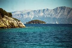 (Just A Stray Cat) Tags: kodak color plus 200 olympus mju ii lefkada greece sea ionian ocean summer mountain rocks sunny sailing 35 35mm mm film analog analogue