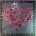 """Shattered Heart"" by Jennifer R, mosaic, $125.00"