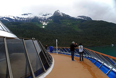 Carnival Legend. Endicott Arm, Alaska (Infinity & Beyond Photography: Kev Cook) Tags: carnival legend cruises cruising cruise ship endicott arm fjord alaska inside passage deck mountains
