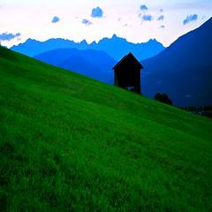 alpine abstract (sculptorli) Tags: alps alpine tyrol tirol oberperfuss österreich sellraintalvalley alpen abstract austria alba dawn green