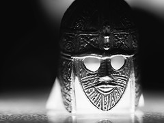 POTD 287 (Webtraverser) Tags: 365picturesin2018 blackandwhite bwphotography everydayphotographer harshlight macro miniaturereplica monochrome objects pad2018287 pictureoftheday staffordshirehoard upclose