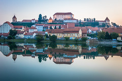 At 6am in the Slovenian town of Ptuj the water was super calm and made for beautiful reflections.