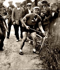 1935 TDF From Good Luck to Bad Luck (Sallanches 1964) Tags: tourdefrance 1935 miroirdessports flattire romainmaes belgiancyclists tourdefrancewinners roadcycling