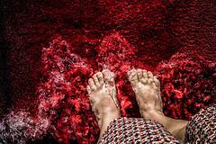 Red carpet (Melissa Maples) Tags: kemer turkey türkiye asia 土耳其 apple iphone iphonex cameraphone autumn qualistabeach qualista mediterranean sea water beach carpet red me melissa maples selfportrait woman barefoot feet