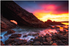 Whale of a Time (Augmented Reality Images (Getty Contributor)) Tags: nisifilters autumn benro canon cliffs clouds coastline landscape longexposure morayshire morning portknockie rocks scotland seascape sunrise water waves