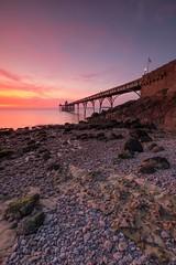 Clevedon Pier (brwestfc) Tags: clevedon pier somerset sea seaside seascape water sunset rocks beach pebble autumn england victorian structure