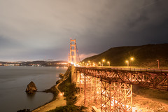 Light Up The Gate (tourtrophy) Tags: goldengatebridge bridge goldengate nightphotography sanfrancisco goldengatenationalrecreationarea sonya7rii carlzeissdistagon25mmf28zf