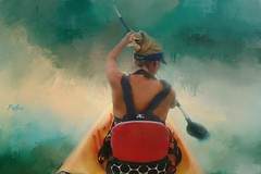 Keep Paddling Baby Girl.... (Patlees) Tags: texturaltuesday group textured painted daughter ali paddle ocean