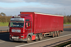 PX06 AZO (H2725 'Katie Anne') (Cumberland Patriot) Tags: ian ridley transport ltd of penrith cumbria haulage man tgx px06azo h2725 katie anne ex eddie stobart artic articulated unit cab truck wagon lorry derv diesel engine road vehicle