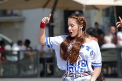 DSC_5273 (Francesco Macelloni) Tags: girl woman dancing firenze florence santamarianovella summer tuscany longhair