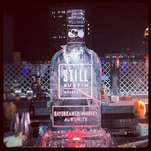 @still_atx featuring their new #daydreamer @thestanthonyhotel last weekend! #fullspectrumice #iceluge #thinkoutsidetheblocks #brrriliant - Full Spectrum Ice Sculpture