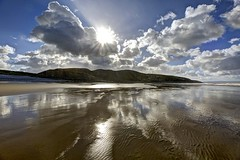 Meadow of  a Dream (pauldunn52) Tags: southerndown beach reflections clods sun cliffs wet sand glamorgan heritage coast wales witches point
