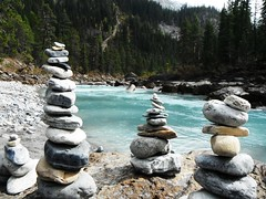 Setting  in Stone .... (Mr. Happy Face - Peace :)) Tags: stone sculpture yoho nationalpark cans2s wilderness autumn fall scenery landscape canada britishcolumbia forest trees sky cloud river glacier h2o art nationalparks field bc rocks rockies rockymountains hiking art2018