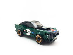 Ford Mustang Fastback 1968 (horsoon) Tags: lego speed ford mustang green blue lightbox speedchampions