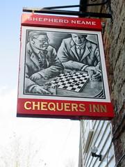 The Chequers Inn (paidetres) Tags: heaverham kent walk thechequersinn pub pubsign