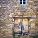 Door in Galicia, Spain, along the Camino Primitivo