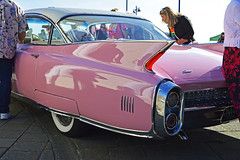 Tailfins and chrome (cmw_1965) Tags: porthcawl elvis elvies festival 2018 music rock roll presley wales welsh 29th september pink cadillac sixty special tailfins chrome fleetwood whitewall white wall tyres wire wheels