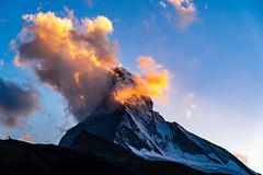 Sunset on the Matterhorn (pa_cosgrove) Tags: matterhorn switzerland zermatt sunset clouds sky