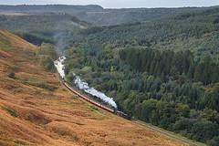 LMS 5428 and 34081 at Levisham Moor (ThanksDrBeeching) Tags: train railway pociąg kolej zug bahn eisenbahn 5428 45428 erictreacy levisham nymr levishammoor northyorkshiremoors northyorkmoors northyorkshiremoorsrailway
