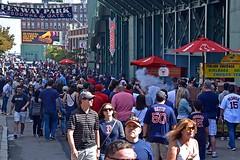 Fenway Park, Lansdowne Street (AntyDiluvian) Tags: boston massachusetts backbay kenmoresquare fenway fenwaypark mlb baseball redsox street lansdownestreet ballgame yankees newyorkyankees crowd