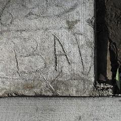 superficially bad (MyArtistSoul) Tags: pasadena ca 2007 urban street concrete monochrome graf graffiti texture green leaf x minimal square 2023 canong6